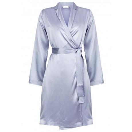 Silk hommikumantel silver