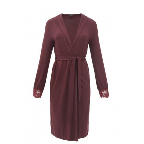 Tres Souple La Perla short robe bordeaux