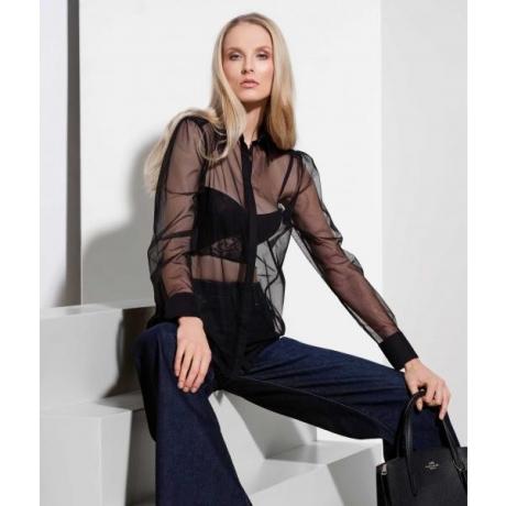 Athena coctail cotton blend blouse black