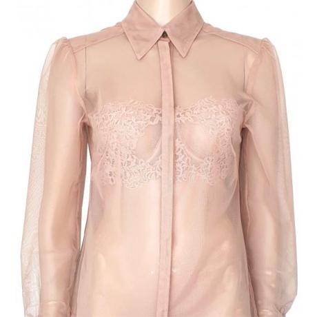 Athena coctail cotton blend blouse powder
