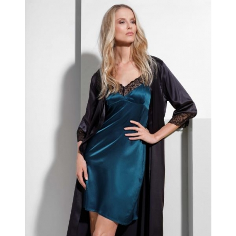Athena silk lace silp dress vihreä M