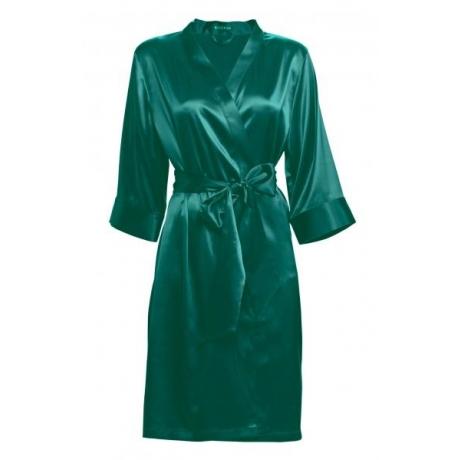 Athena silk robe green