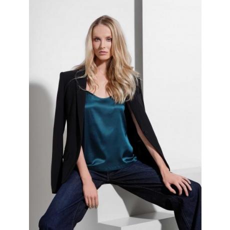 Athena silk strap top green