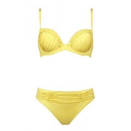 Dance push up bikini setti keltainen