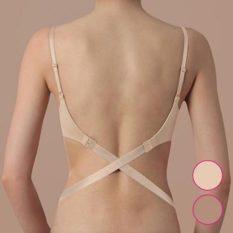 Low back straps 2 hook, 3 pcs nude, black, white