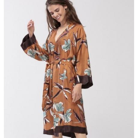 Terrakotta silkki kimono