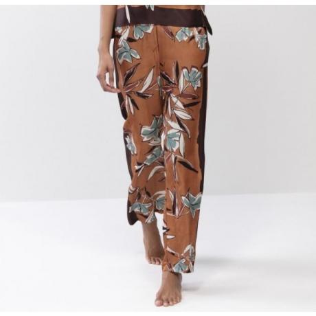 Terrakotta silk pants