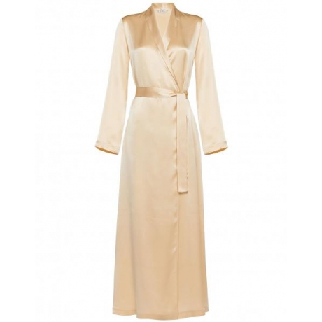 Silk La Perla long robe beige S