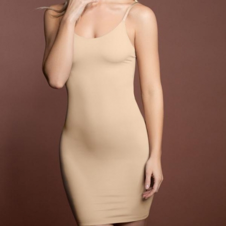 Invisible dress beige