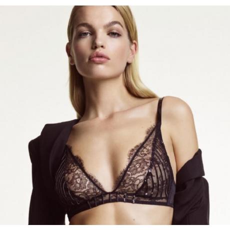 Jaguar triangle soft bra black