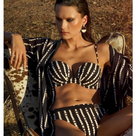 Catena balconette bikini set black