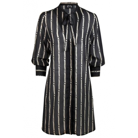 Catena long blouse dress black