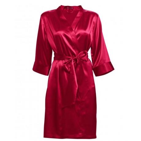 Adeline silk robe red