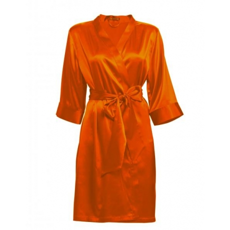 Adeline silk robe orange