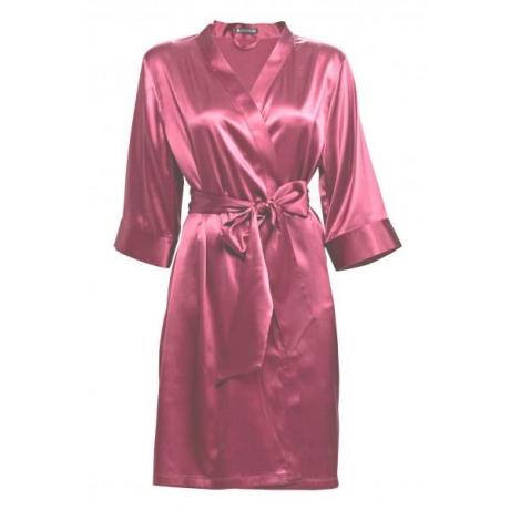 Adeline siidist hommikumantel sorbet vaarika roosa