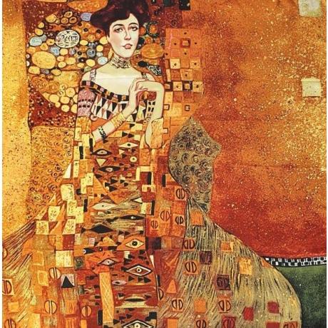 Silk scarf 100% silk 90 cm x 90 cm Klimt