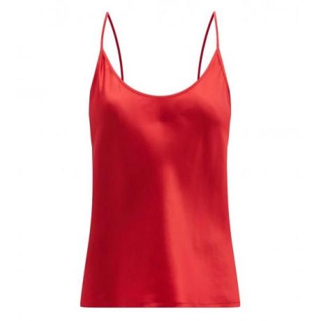 Silk La Perla  шелковый атласный топ красный