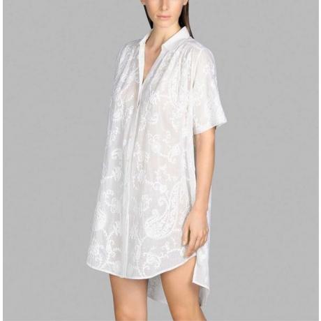 Venice puuvillane kaftan kleit valge