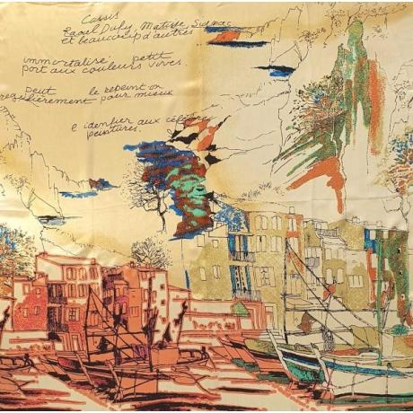 Siidisall 100% siid 90 cm x 90 cm painting