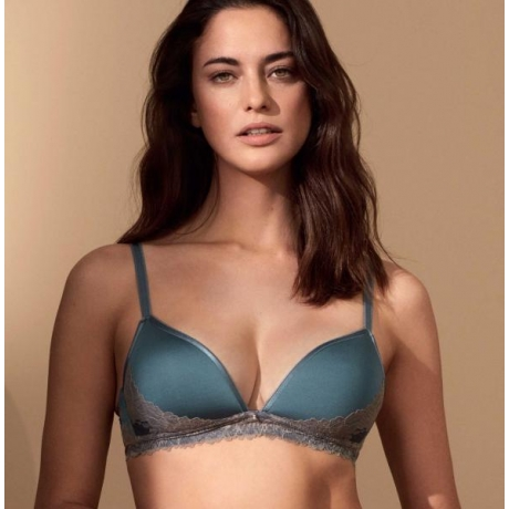 uxurious soft spacer triangle bra vintage blue SOLD OUT