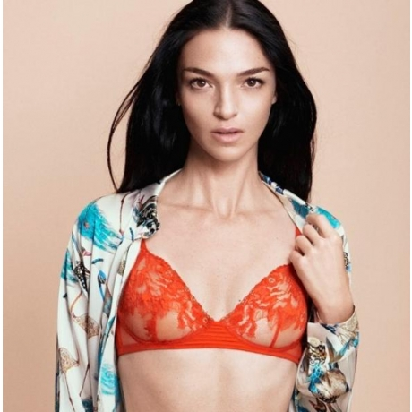 Whisper La Perla soft cup bra orange