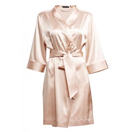 Adeline silk robe beige