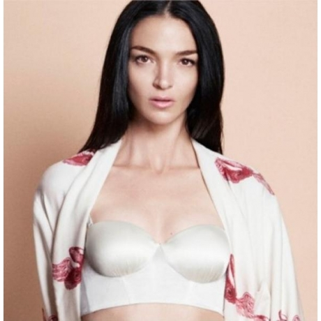 Silk Flair balconette bra ivory