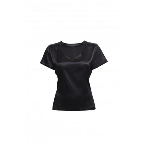 Alba silk T-shirt black