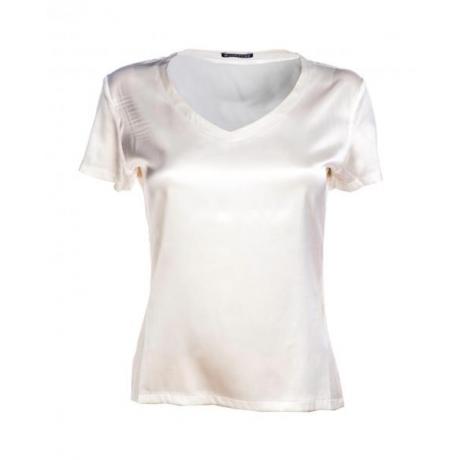 Alba silk T-shirt Ivory