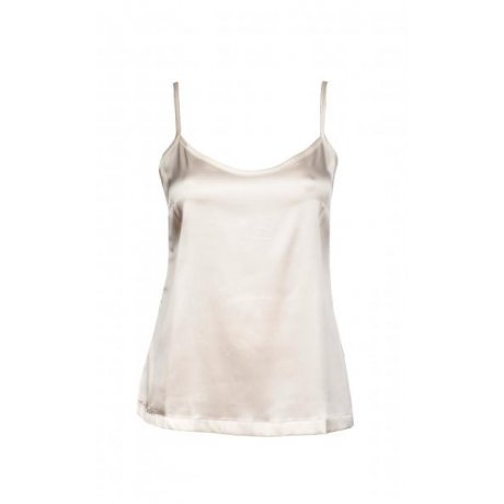 Aiko silk strap top Ivory
