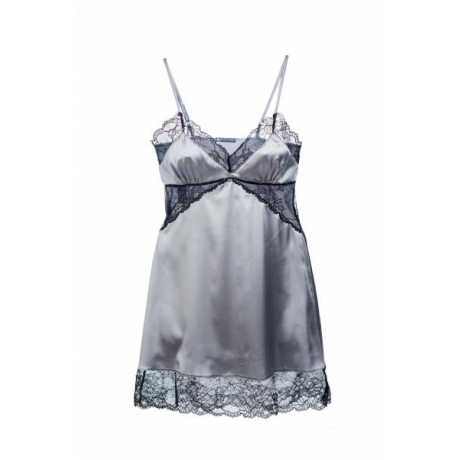 Angelica silk nightdress silver