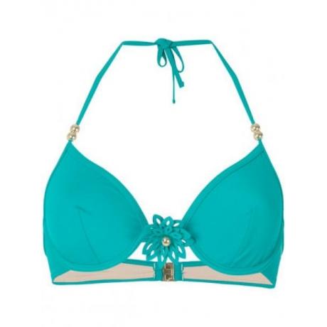 Flor underwired bikini bra green