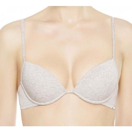 Cotton La Perla push up bra melange gray