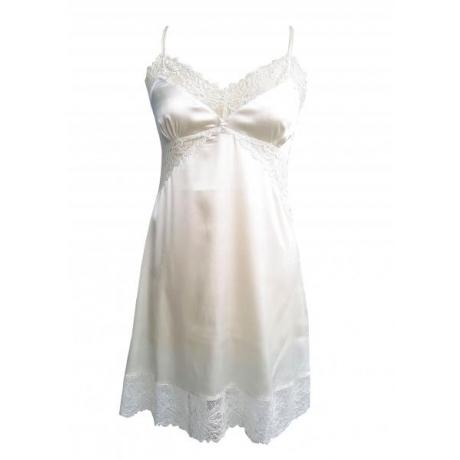 Angelica silk night dress ivory