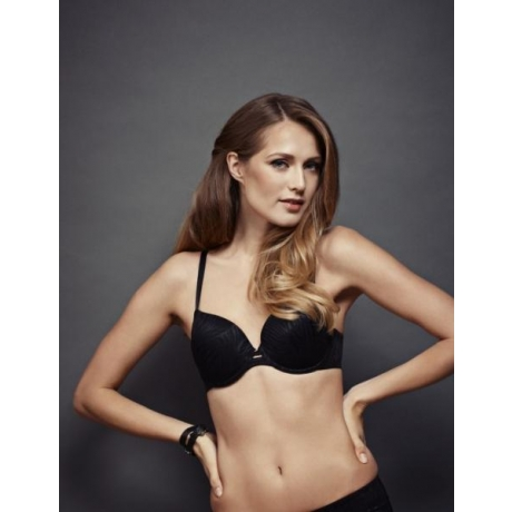 Elastic T-shirt bra black SALE