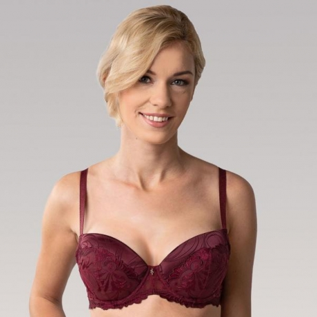 Donna push up bra burgundy
