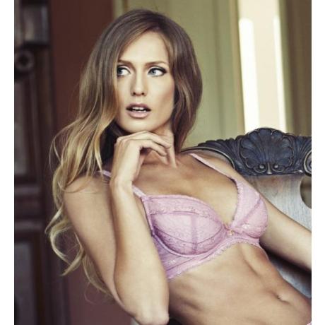 Sorbet push up bra pink