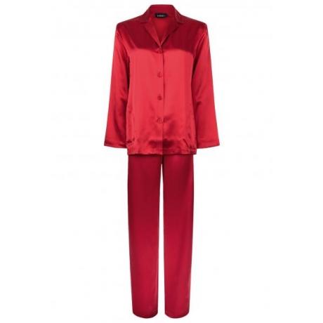 Silk pidžaama punane