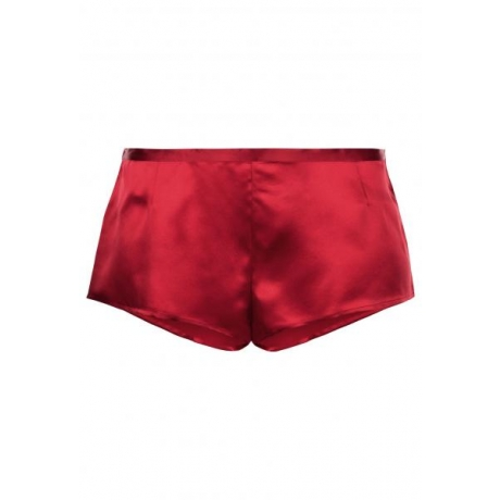 Silk boxer shorts red