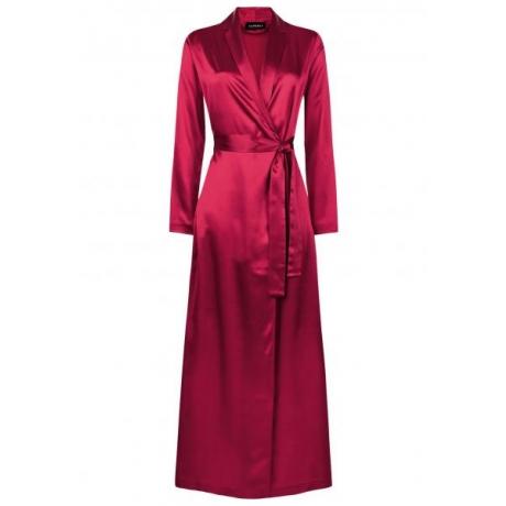 Silk pikk hommikumantel punane