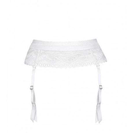 Suspender belt white