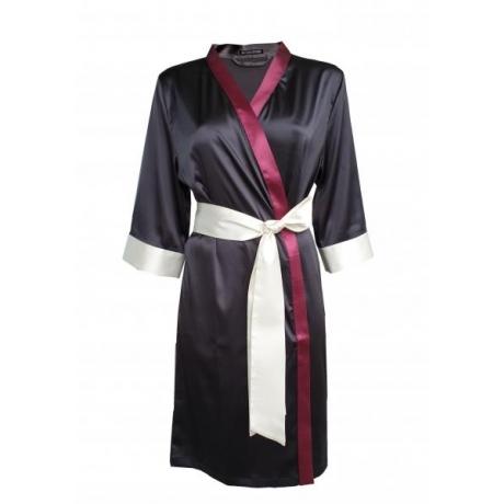 Aika silkki kimono musta