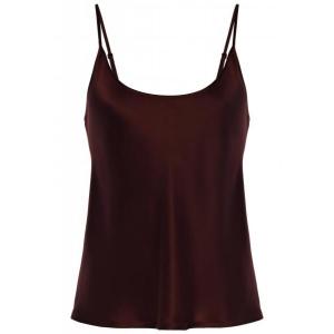 Silk top burgundy