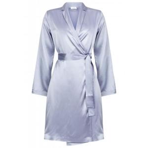 Silk  шелковый атласный  халат серый