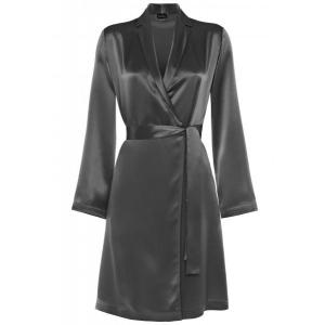 Silk robe silver