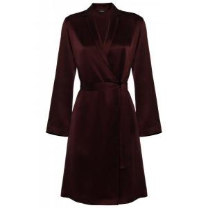 Silk robe burgundy