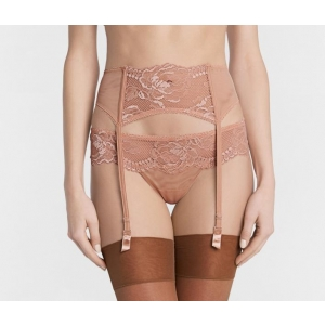 Brigitta La Perla  suspender belt rose