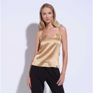 Athena silk top gold