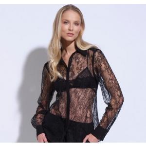 Athena Chantilly lace coctail blouse black