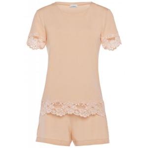 Tres Souple  La Perla пижама с кружевом розовая